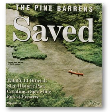 Newsday Cover Long Island Pine Barrens Saved